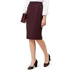Hobbs - Maroon 'Andie' skirt