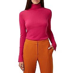 Hobbs - Pink 'Larissa' roll neck jumper
