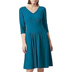 Hobbs - Green 'Venise' v-neck knee length dress