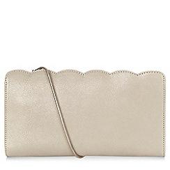 Hobbs - Light gold 'Sally' clutch bag