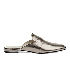 Hobbs - Metallic 'Sienna backless' loafers