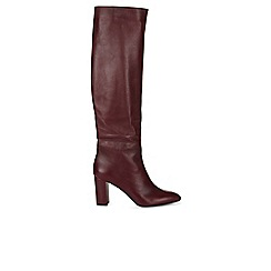 Hobbs - Maroon 'Thea' slouch boot