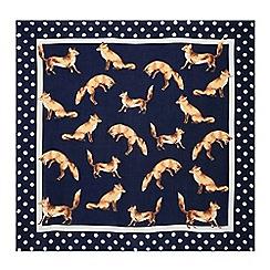 Hobbs - Navy 'Emelia' fox scarf
