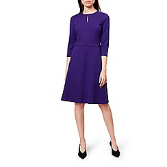 Hobbs - Purple 'Anais' knee length skater dress
