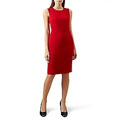 Hobbs - Red 'Elena' knee length pencil dress