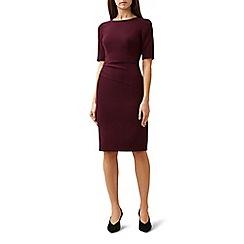 Hobbs - Red 'Eva' knee length pencil dress
