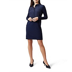 Hobbs - Blue 'Lorella' long sleeves mini jumper dress