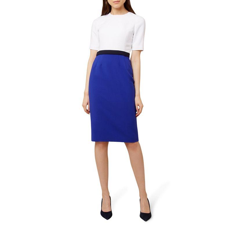Hobbs - Blue 'Adela' Knee Length Pencil Dress