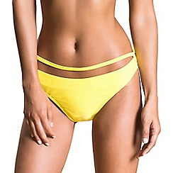 Oh My Love - Yellow strap front bikini brief
