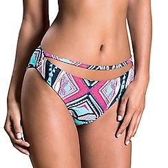 Oh My Love - Dark aztec strap front bikini brief