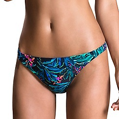 Oh My Love - Dark palm print bikini brief