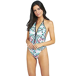Oh My Love - Aztec print v front swimsuit