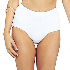 Oh My Love - White high waisted brief