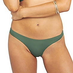 Oh My Love - Khaki hipster brief with back rouching detail