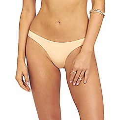 Oh My Love - Peach hipster brief with back rouching detail brief