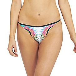 Oh My Love - Mirrored tropical print tanga brief