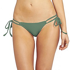 Oh My Love - Khaki tie side hipster brief with back rouching detail