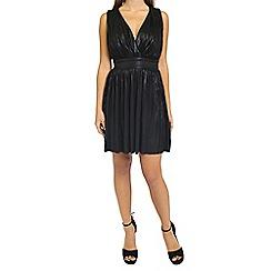 Oh My Love - Black pleated grecian mini dress