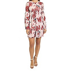 Oh My Love - Oriental print bell sleeve smock dress