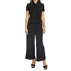 Oh My Love - Black wide leg jumpsuit with neck tie
