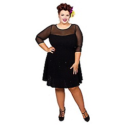 Scarlett & Jo - Black plus size boucle dress