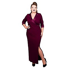 Scarlett & Jo - Red jersey full length plus size maxi dress