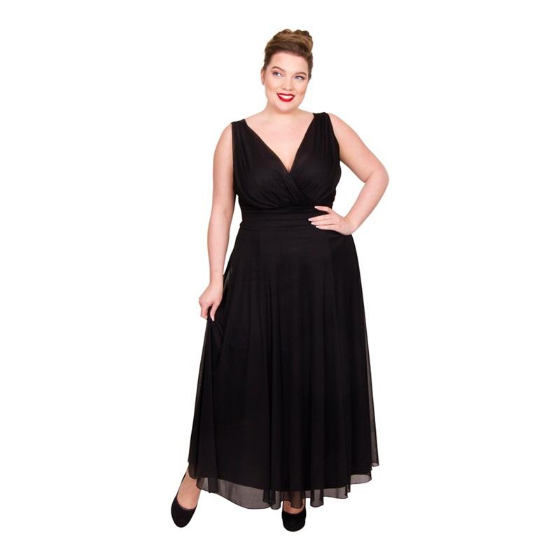 Scarlett & Jo Black Plus Size Maxi Dress, Women's, Size: 14, Evening dresses.