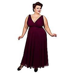Scarlett & Jo - Burgundy plus size maxi dress