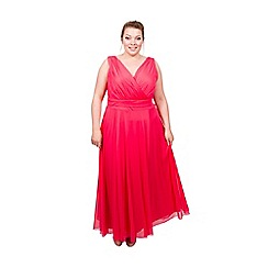 Scarlett & Jo - Coral plus size maxi dress