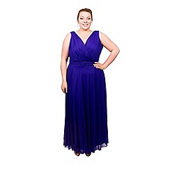 Scarlett & Jo - Blue plus size maxi dress