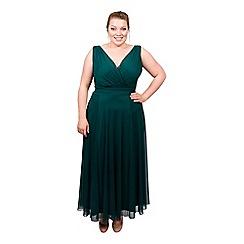 Scarlett & Jo - Green plus size nancy marilyn chiffon maxi dress