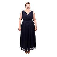 Scarlett & Jo - Navy plus size maxi dress