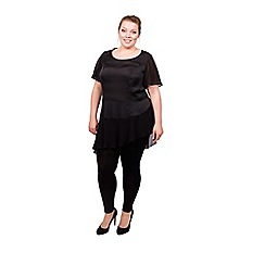 Scarlett & Jo - Black plus size jersey leggings
