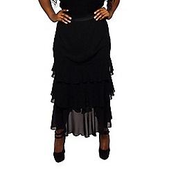 Scarlett & Jo - Black plus size angela maxi ra ra skirt