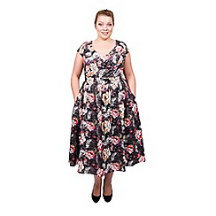 Scarlett & Jo - Multicoloured tall plus size midi dress