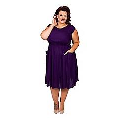 Scarlett & Jo - Purple plus size pocket dress