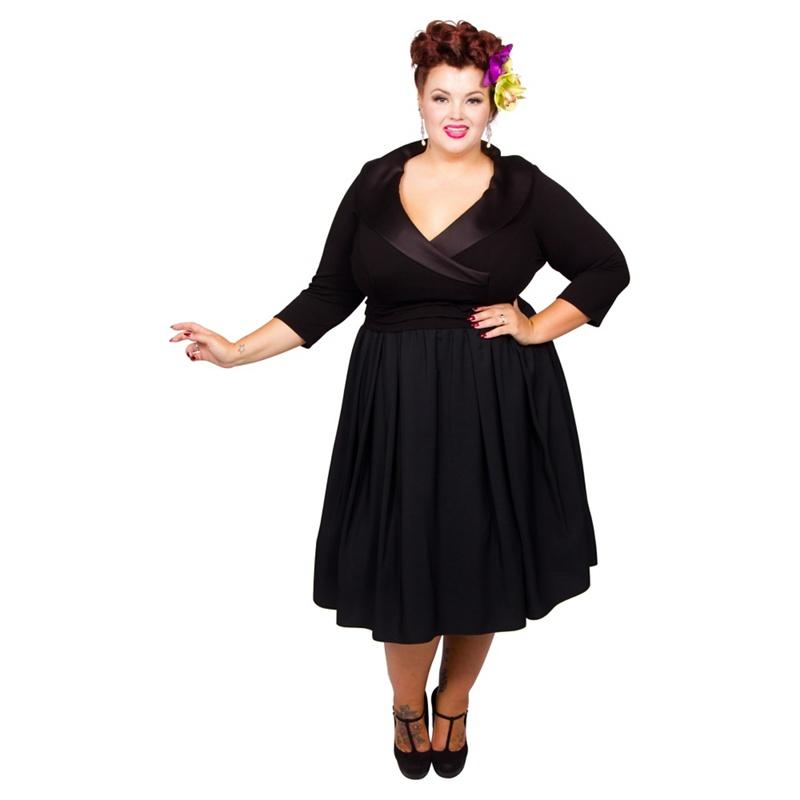 Scarlett & Jo Black Plus Size Tuxedo Prom Dress, Women's, Size: 20, Evening dresses.
