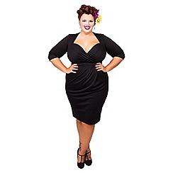 Scarlett & Jo - Black plus size bodycon dress