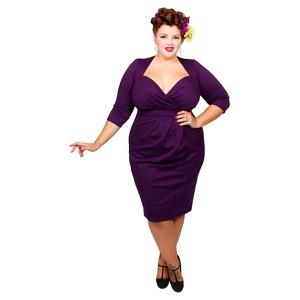 Scarlett & Jo Purple Plus Size Bodycon Dress