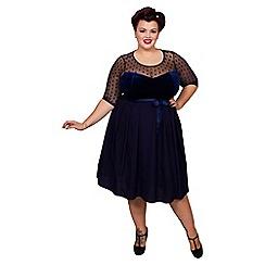 Scarlett & Jo - Navy vintage fairtale plus size dress