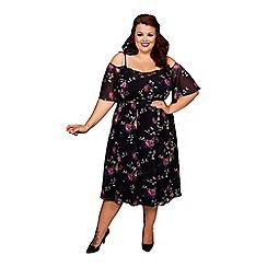 Scarlett & Jo - Purple plus size floaty dress