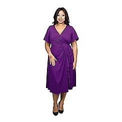 Scarlett & Jo - Purple plus size diamond dress