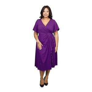 Scarlett & Jo Purple Plus Size Diamond Dress