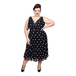 Scarlett & Jo - Black plus size full skirt dress