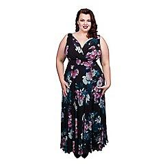 Scarlett & Jo - Floral plus size marilyn dress