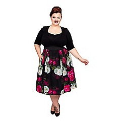 Scarlett & Jo - Black plus size starlet 2 in 1 dress