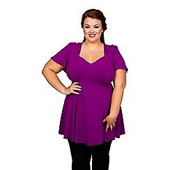 Scarlett & Jo - Purple plus size fit and flare top