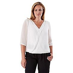 Celuu - Ivory 'Poppy' wrap blouse