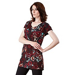 Celuu - Red 'April' rose print tunic