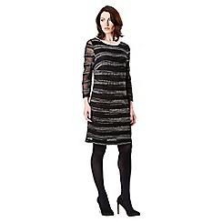 Celuu - Black 'Ellie' lacey knit dress